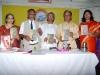 साहित्य रंग आणि आंतर्रंग ह्या आकांक्षाने प्रकाशित केलेल्या निशिकांत डॉ.मिरजकर ह्यांच्या पुस्तकाचे प्रकाशन करतांना माधवी वैद्य, डॉ. द.भी. कुलकर्णी, डॉ.मिरजकर, डॉ.वी.भा.देशपांडे आणि अरुणा सबाने